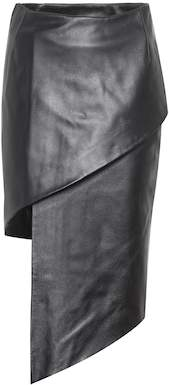 Vetements Asymmetric leather skirt