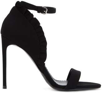 Stella McCartney ruffle ankle strap sandals