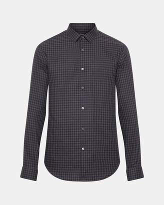 Theory Gingham Standard-Fit Shirt