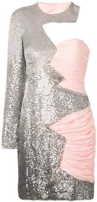 Moschino asymmetric sequin dress
