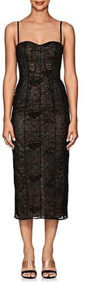 J. Mendel Women's Lace Fitted Cocktail Dress - Black