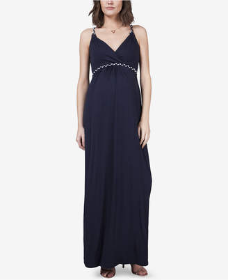Seraphine Maternity V-Neck Maxi Dress