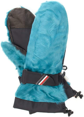 Moncler Genius Shearling And Leather Gloves