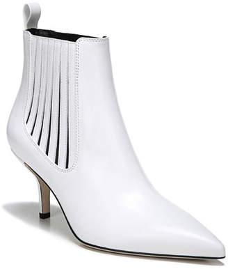 Diane von Furstenberg Mollo Point-Toe Leather Ankle Boots