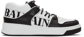 Balmain Black and White Kane Sneakers