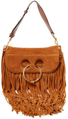 J.W.Anderson J. W. Anderson Small Pierce Fringe Suede Shoulder Bag