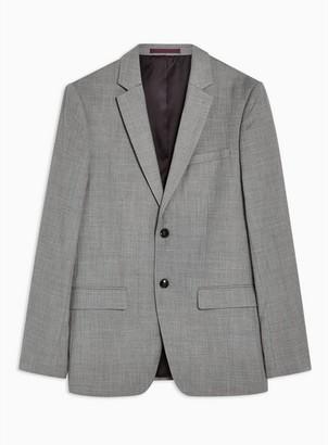 Topman Mens Mid Grey Gray Marl Slim Fit Suit Jacket