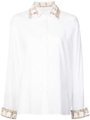 Rosie Assoulin sea shell trim button-down shirt