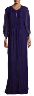 Oscar de la Renta Three-Quarter Sleeve Silk Dress