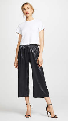 Norma Kamali Cropped Boyfriend Sweatpants