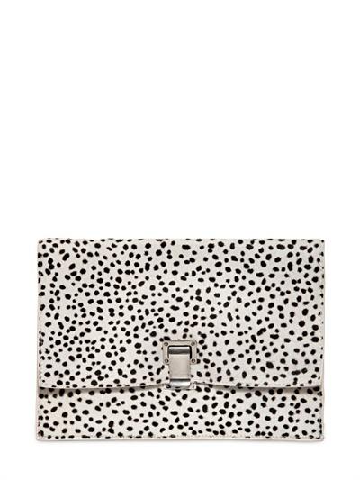 Proenza Schouler Small Lunch Dots Print Clutch
