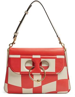 J.W.Anderson Pierce medium checkboard leather shoulder bag