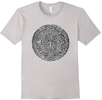 Aztec Calandar Sun Stone T-Shirt Mexican Mayan Culture