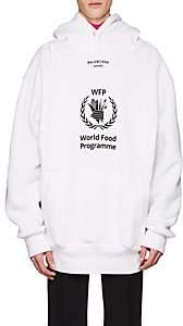 Balenciaga Men's World Food Programme Fleece Hoodie-White