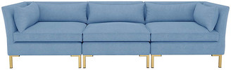 One Kings Lane Marceau Modular Sofa - French Blue Linen