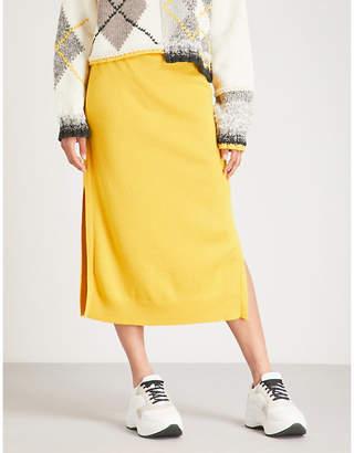 Pringle Side-slit cashmere skirt
