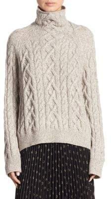 Vince Braided Turtleneck Sweater