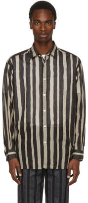 TOMORROWLAND Black and White Striped Big Shirt