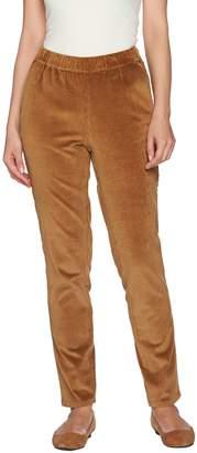 Denim & Co. Regular Slim Leg Wide Wale Corduroy Pants with Pockets