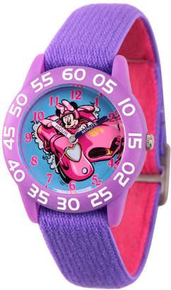 DISNEY MINNIE MOUSE Disney Minnie Mouse Girls Purple Strap Watch-Wds000216