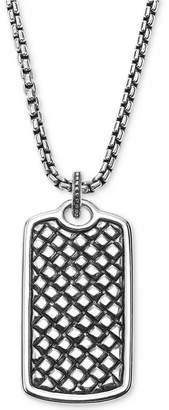Scott Kay Men's Textured Dog Tag Pendant Necklace in Sterling Silver