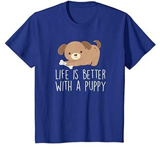Cute Dog Shirt Girls Women Life Is Better With A Puppy Gift