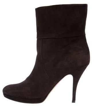 Salvatore Ferragamo Carea Suede Ankle Boots
