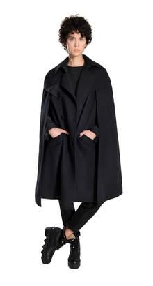 Max Studio double-weave wool cape