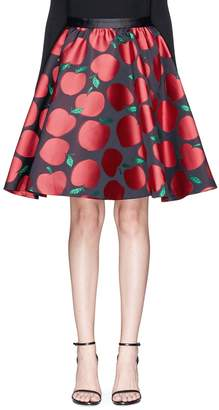 Alice + Olivia 'Earla' apple jacquard flared skirt