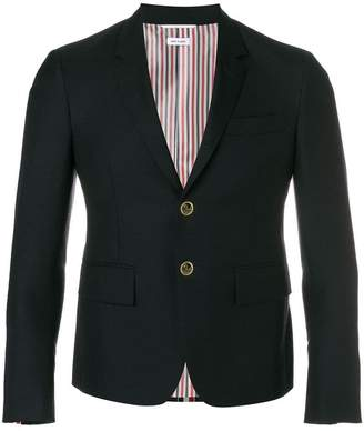 Thom Browne Center-Back Stripe High Armhole Wool Sport Coat