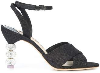 Sophia Webster glitter heel sandals