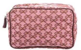 Anya HindmarchAnya Hindmarch Canvas Patterned Cosmetic Bag
