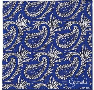 Cifonelli CIFONELLI MEN'S PAISLEY SILK TWILL POCKET SQUARE