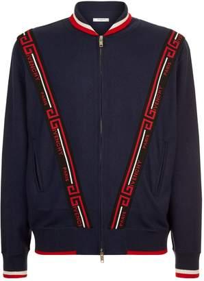 Givenchy Logo Stripe Cardigan