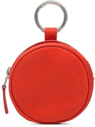 Simon Miller red circle pop leather pouch