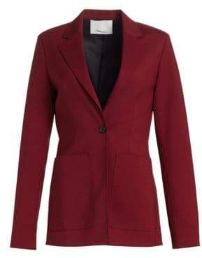 3.1 Phillip Lim Women's Tailored Wool Blazer - Dark Lipstick - Size 0