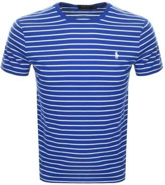 Ralph Lauren Stripe T Shirt Blue