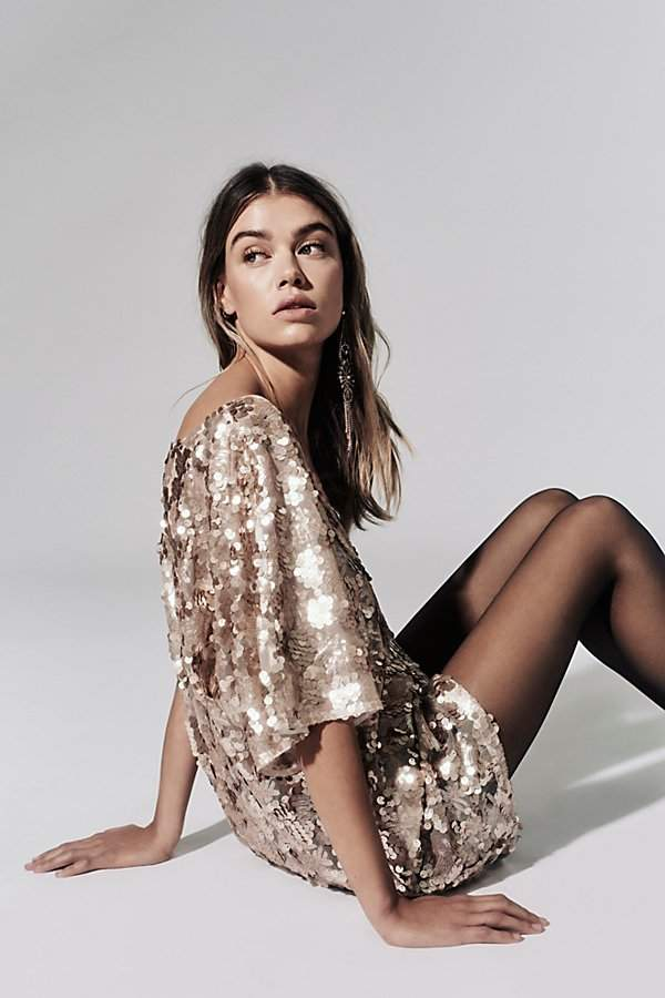 Sequin T-Shirt Dress by Free People