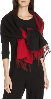 Eileen Fisher Colorblock Wool Blend Scarf
