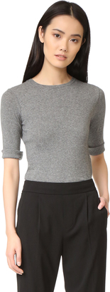 Vince Elbow Sleeve Tee $90 thestylecure.com