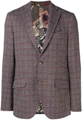 Etro classic checked blazer