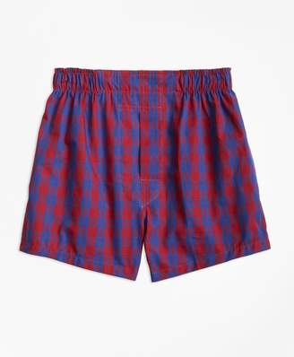 Brooks Brothers Boys Holiday Plaid Boxers