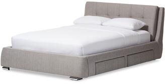 Design Studios Camile 4-Drawer King Storage Platform Bed