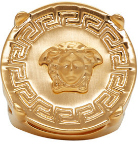 Versace Gold Medusa Ring $325 thestylecure.com