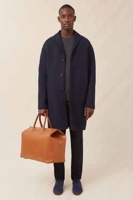 Mansur Gavriel Men's Boiled Wool Classic Coat - Blu