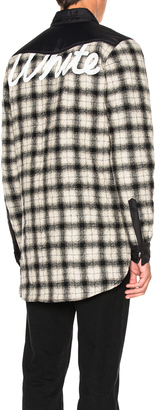 OFF-WHITE Quilted Flannel Button Down $923 thestylecure.com
