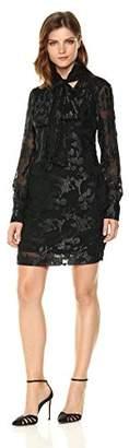 Rachel Roy Women's Tie Nk Jacquard Chiffon Dress