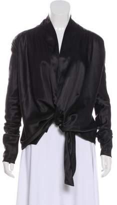 Haider Ackermann Silk Open-Front Cardigan w/ Tags Black Silk Open-Front Cardigan w/ Tags