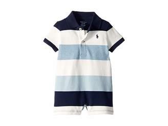 Ralph Lauren Baby Cotton Mesh Polo Shortall (Infant)
