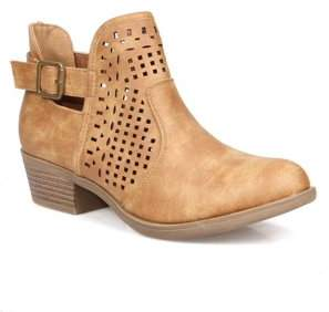 Mark and Maddux Grommet Cut Out Women's Booties in Camel